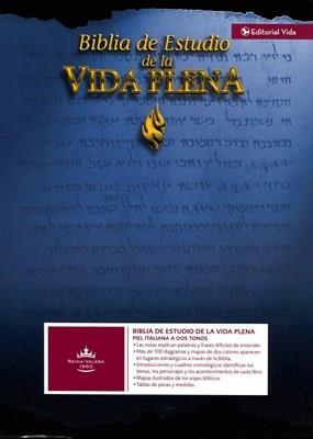 Biblia De Estudio Vida Plena Con Indice (Piel) [Biblia]