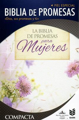 Biblia De Promesas Compacta Floral-Piel Especial (Simil Piel) [Biblia]