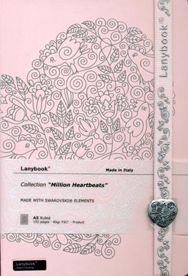 Lanybook Million Heartbeats Lineado Rosado Corazones (Simil Piel) [Agenda]
