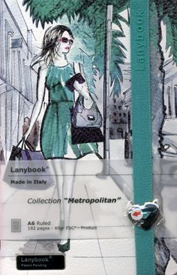 Lanybook Metropolitan Blanco Verde (Simil Piel) [Agenda]