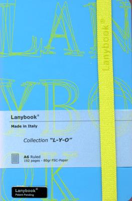 Lanybook Azul Letras Amarillas (Simil Piel) [Agenda]