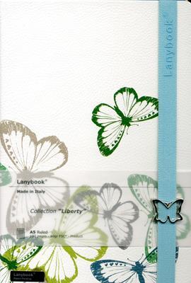 Lanybook Liberty Blanco Mariposas (Simil Piel) [Agenda]