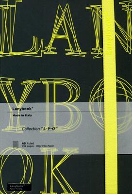 Lanybook LYO Grande Negro Letras Amarillo (Simil Piel) [Agenda]