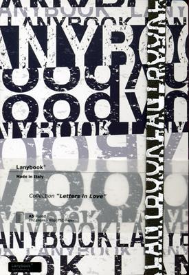 Lanybook Letters In Love Grande Blanco Y Negro (Simil Piel) [Agenda]