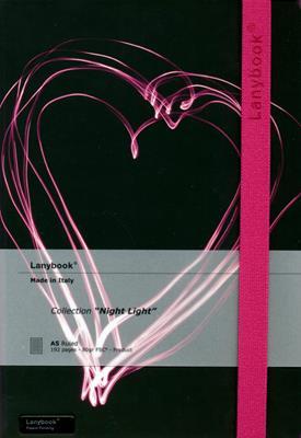 Lanybook Night Light Grande Negro Fucsia (Simil Piel) [Agenda]