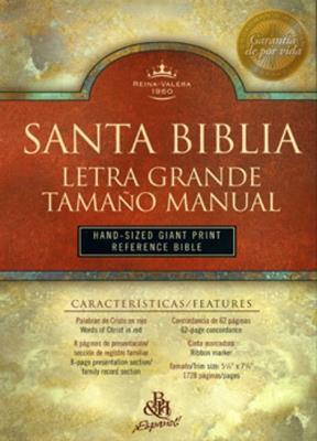 Biblia letra grande manual piel fabricada indice (Piel fabricada)