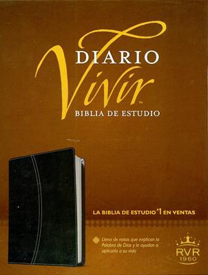 Biblia diario vivir, duo tono Negro-ónice (Piel fabricada)