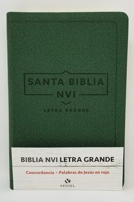 Biblia NVI Letra Grande Cuero Italiano Verde (Flexible Imitación Piel Verde) [Bíblia]