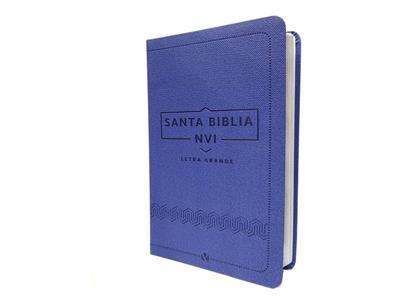 Biblia NVI Letra Grande Cuero Italiano Azul (Flexible Imitación Piel Azul) [Bíblia]
