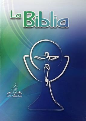 Biblia DHH Version Popular Tamaño83DKLGi Letra Gigante -Azul (Tapa Dura) [Biblia]