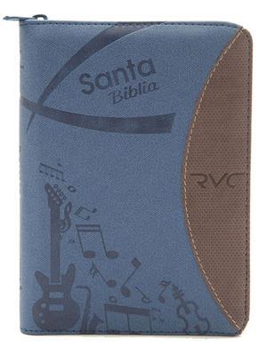 Biblia Tamaño 045 Azul Vinotinto Palabras De Jesús En Rojo (Imitacion Piel ) [Biblia]