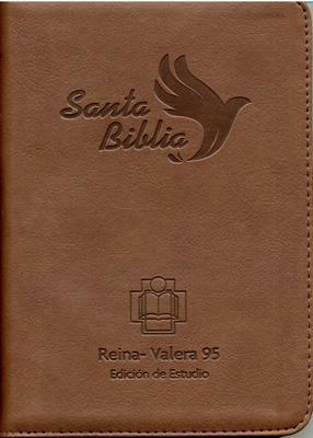 Biblia RVR95 Tamaño 055 Edición de Estudio (Imitación Piel) [Biblia]