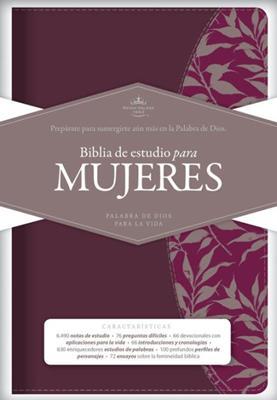 Biblia de Estudio para Mujeres Vinotinto Fucsia (Imitación Piel) [Biblia]