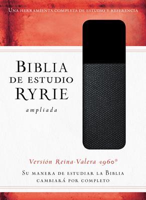 Biblia De Estudio Ryrie Ampliada Dúo Tono Negro (Imitación Piel) [Biblia]