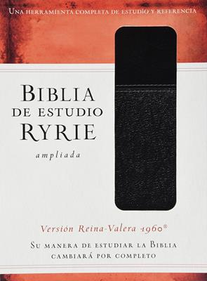 Biblia De Estudio Ryrie RVR60 Ampliada Dúo-tono Negro Indice (Flexible Imitacion Piel Negro) [Biblia de Estudio]