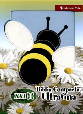 Biblia compacta ultrafina abeja NVI (Piel)