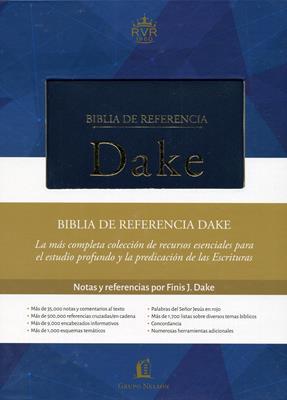 Biblia De Referencia Dake Azul Elegante (Piel Especial - en caja) [Biblia]