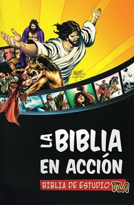 Biblia En Acción TLA Ilustrada a Todo Color Canto Blanco (Tapa Dura Ilustrada) [Biblia de Estudio]