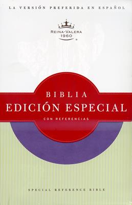 Biblia edición especial con referencias RVR60 morada (Piel italiana)