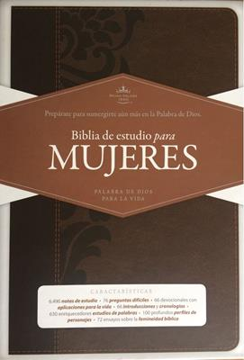 Biblia De Estudio Para Mujeres - Chocolate - Con Índice (Imitación piel) [Biblia]