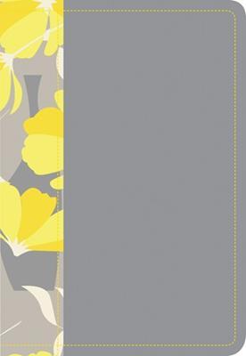 Biblia NTV Compacta Letra Grande Gris y Amarillo (Imitación Piel)