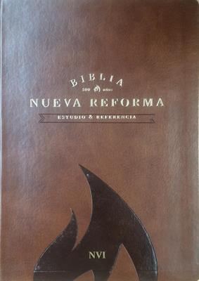 Biblia De Estudio Nueva Reforma Piel Italiana Miel (Imitación Piel) [Biblia]