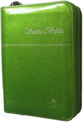 Biblia Tamaño 025 Imitación Piel Verde (Imitación Piel) [Biblia]