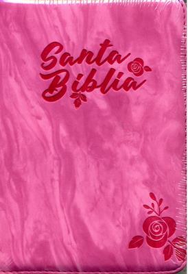 Biblia RVR60 Tamaño 45CZTILG Fucsia (Imitación Piel) [Biblia]