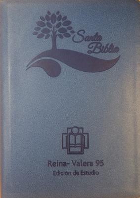 Biblia Tamaño55EEZTI Azul Canto Plateado (Imitación Piel) [Biblia]