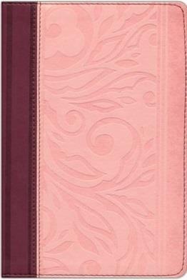 Biblia Tamaño Manual con Referencias Borravino Rosado (Imitación Piel) [Biblia]