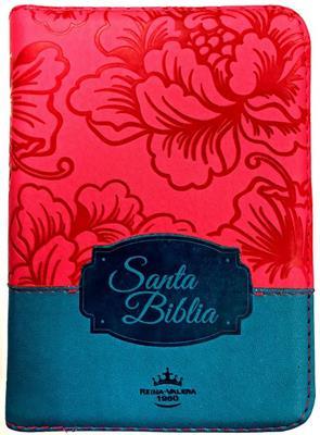 Biblia RVR60 Tamaño 45CZTILG Fucsia Azul (Imitación Piel) [Biblia]