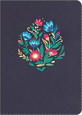 Biblia Compacta Letra Grande Azul Bordado Sobre Tela (Imitación Piel) [Biblia]