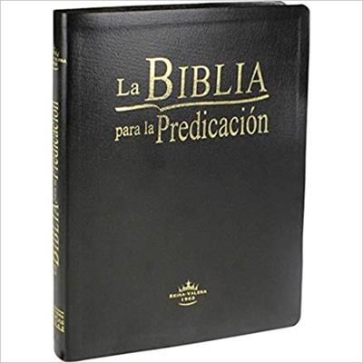 Biblia Para La Predicación RVR60 Negro Canto Dorado Tamaño 087LGEE (Flexible Imitacion Piel Negro) [Bíblia]