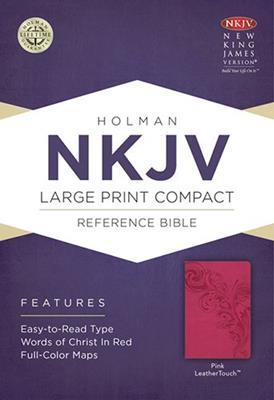 Biblia NKJV Letra Grande Compacta Rosada Ingles (Flexible Imitacion Piel Rosa) [Bíblia]