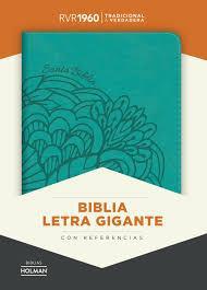 Biblia Letra Gigante Aguamarina Imitación Piel (Imitación Piel) [Biblia]