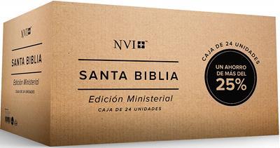 Caja Biblia Edición Ministerial Por 24 Unidades (Rustica) [Caja de Biblias]