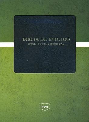 Biblia De Estudio Reina Valera Revisada - Negro (Piel Especial) [Biblia]
