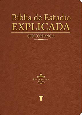 Biblia De Estudio Explicada Piel Especial (Imitación Piel) [Biblia]
