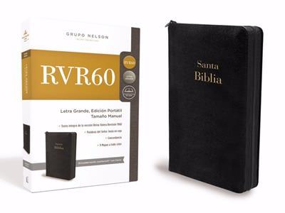 Biblia Tamaño Manual Letra Grande Negra (Imitación Piel) [Biblia]