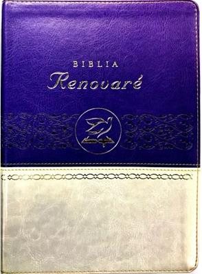 Biblia Renovare Imitación Piel Violeta Beige (Imitación Piel) [Biblia]