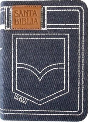 Biblia Tamaño 024 Jean Azul (Tipo Tela Jean) [Biblia]