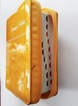 Biblia RVR60 Pequeña Imitacion Piel Naranja (Flexible Imitacion Piel con Cierre) [Bíblia]