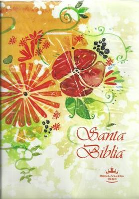 Biblia Tamaño 042 Indice Crema Flores (Vinilo) [Biblia]
