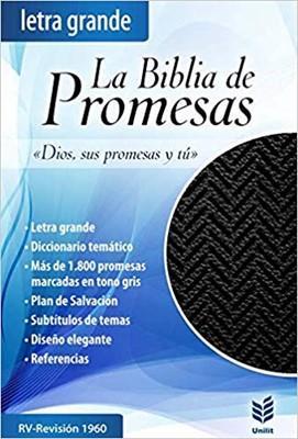Biblia De Promesas Letra Grande Piel Especial Negro (Imitación Piel) [Biblia]