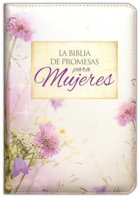 Biblia De Promesas RVR60-Compacta-Floral Con Cierre-Indice (Percalina )