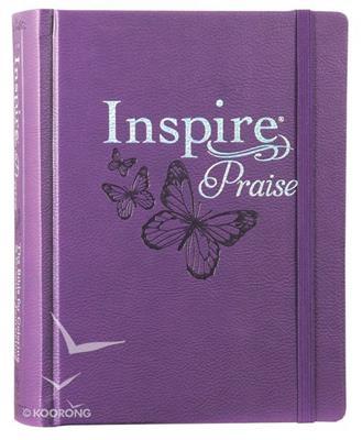 Biblia Inspire NLT-Purpura (Tapa dura - piel)