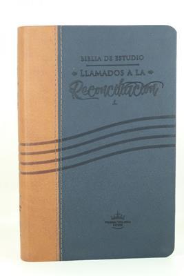 Biblia RVR60 de Estudio Llamados a la Reconciliación (Flexible Imitación Piel Mostaza Azul) [Biblia de Estudio]