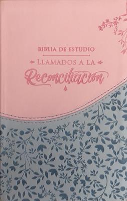 Biblia De Estudio Llamados A La Reconciliación  Azul Rosado (Imitación Piel) [Biblia]
