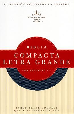 Biblia compacta letra grande con referencias (Azul)