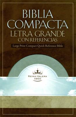 Biblia compacta letra grande con referencias (Esmeralda) (Simulación Piel)